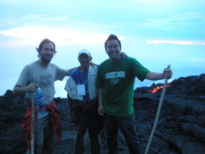 My group organizer and I on top of Pacaya Volcano in Guatemala