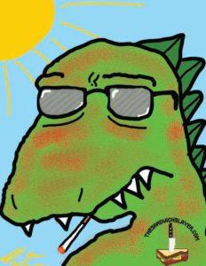 Sun Burned Godzilla