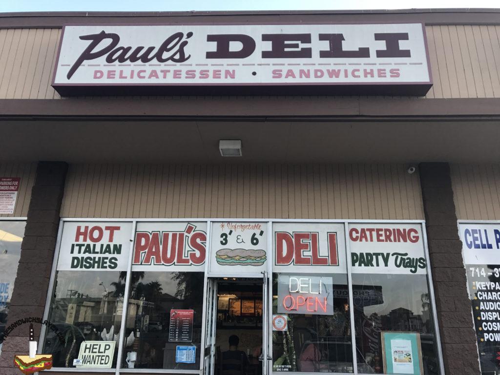 Paul's Deli Frontage