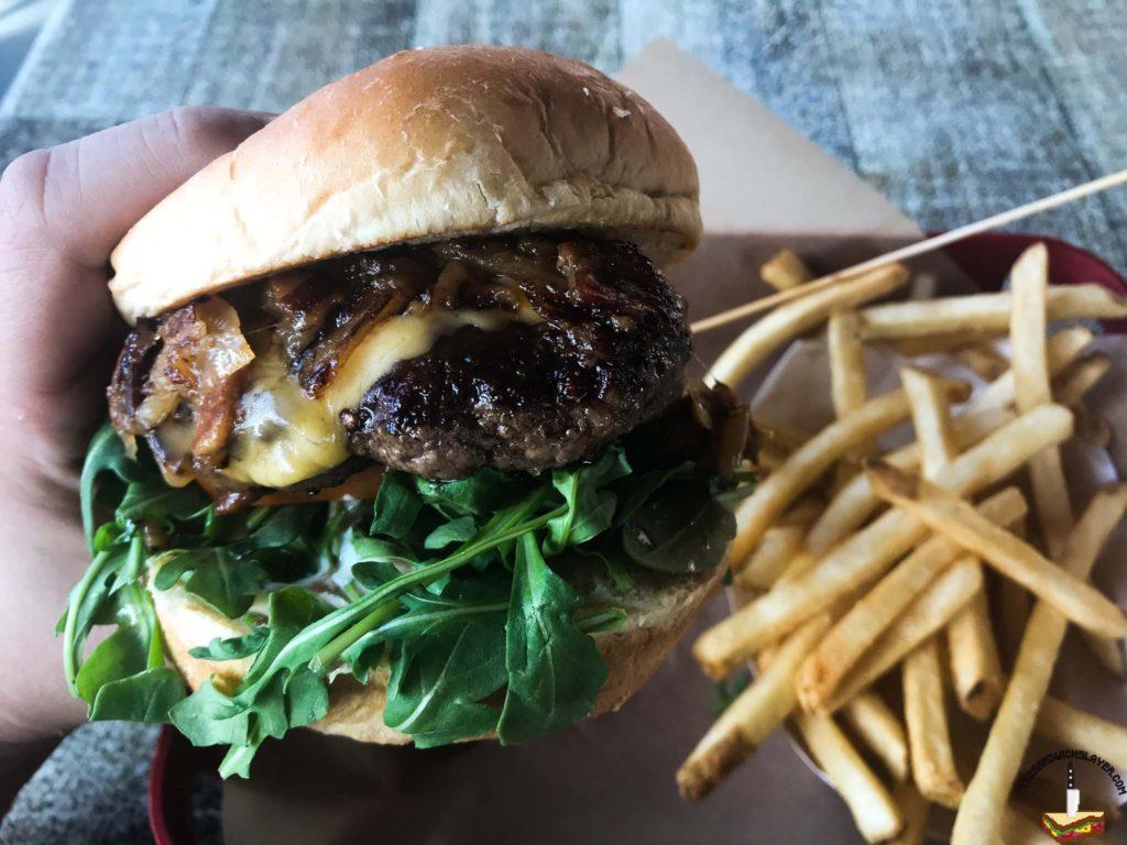 Deemer's Gouda Burger and fries