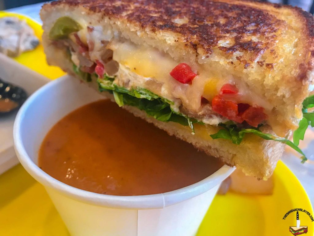The Grater Grilled Cheese with a side of tomato soup