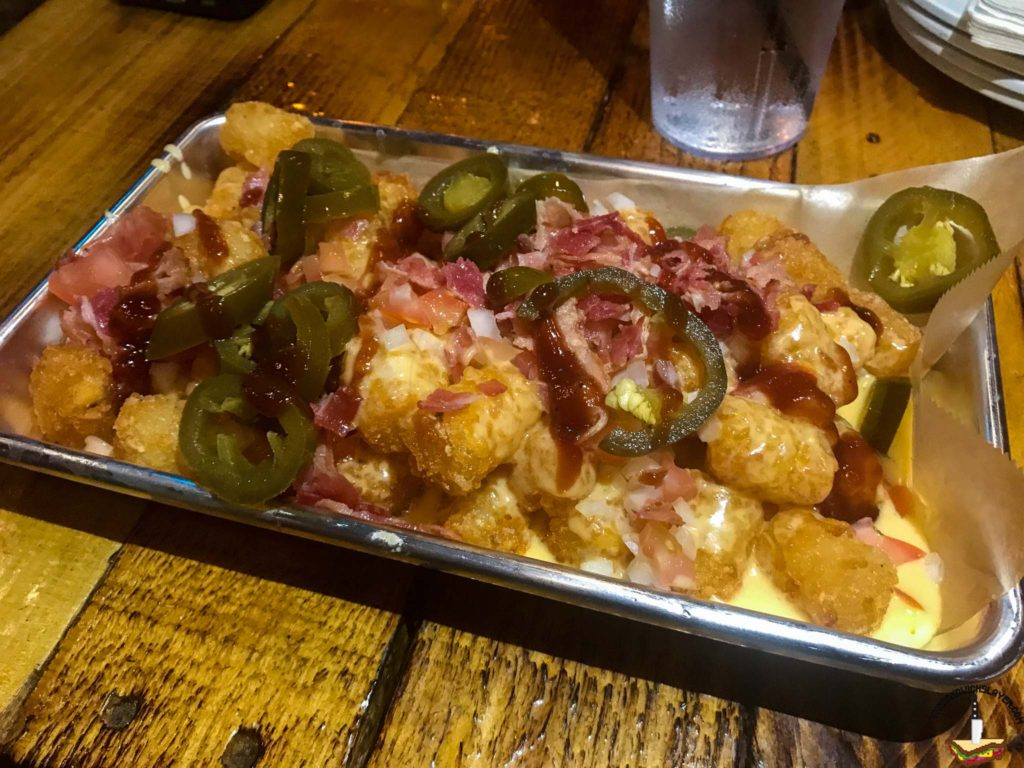 Kitchen Sink Tots from Trailer Park after dark