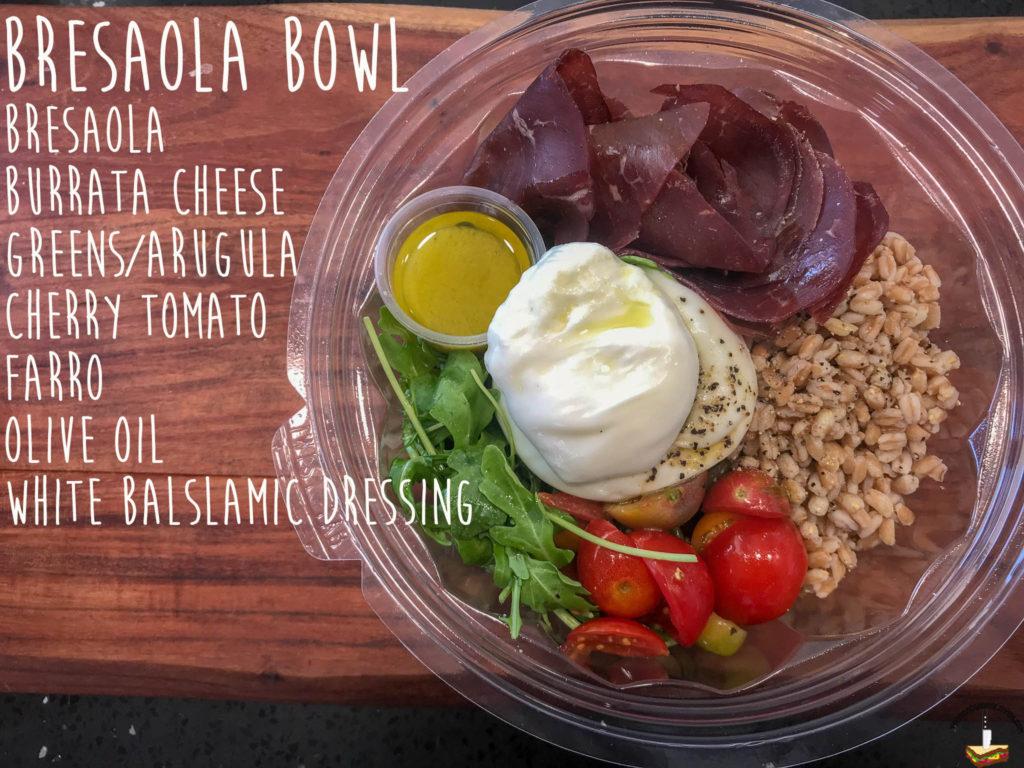 Burrata House Bresaola bowl ingredients